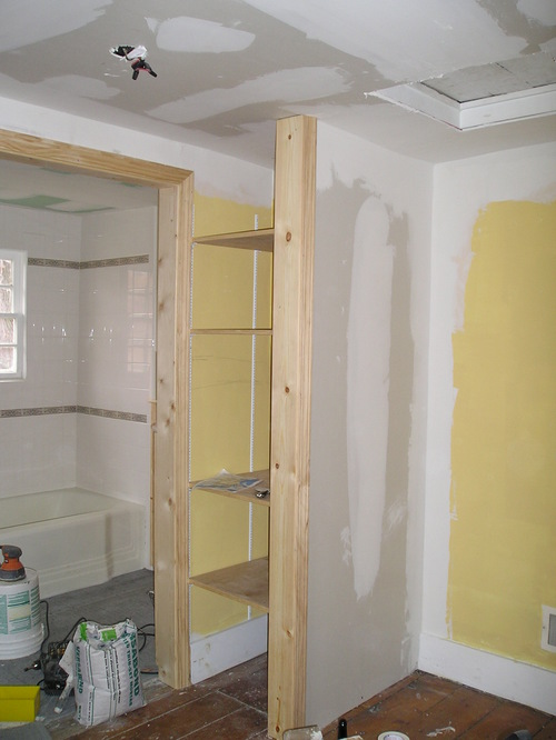 the bathroom remodel look a linen closet